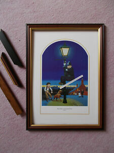 COMICAL POLICE PRINT BY JEDD FRAMED - THE DOG AND THE LAMP POST