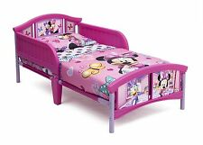 Disney Minnie Mouse Plastic Toddler Bed Delta Children Bedroom Furniture New