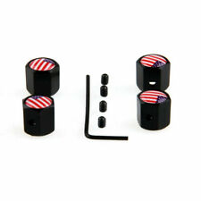 Anti-theft Black Metal Car Wheel Tyre Tire Stem Air Valve Cap With US Flag
