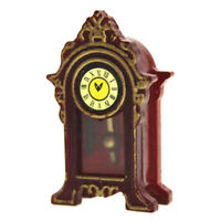 1:12 Miniature pendulum clock dollhouse diy doll house decor accessories  CRIT