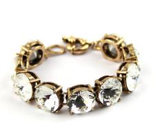J Crew Round Crystal Bracelet Sparkly Stunning Real Crystal