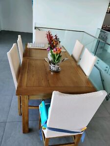Handcrafted solid oak French farmhouse dinning table