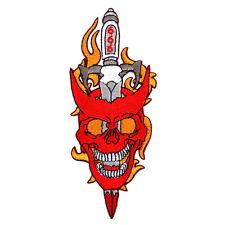 Patch écusson Diable skull  épée  , Bikers,custom,USA, Country,Décoration ,