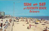 "*Delaware Postcard-""Sun and See...@ Rehoboth Beach, DE. (Atlantic Coast) (U1-10)"