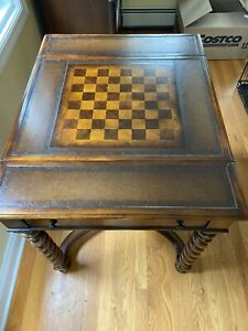 Theodore Alexander Inlaid Game Table with Reversible Top
