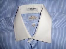 NEW Eagle Men's Cotton Dress Shirt  Blue/White Collar 16 1/2 34-35