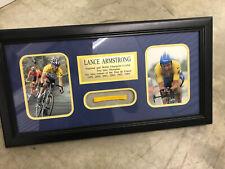 Lance Armstrong USA Cyclist LIVESTRONG  Tour de France FRAMED Bracelet