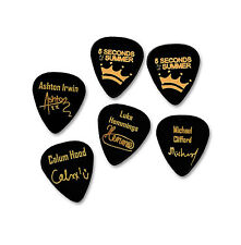 5 S Of Summer 5SOS Signature GOLD STAMP Médiator Guitar picks Set Complet 6X