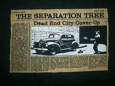 SEPARATION TREE CONCERT T SHIRT Dead End City Cover Up Toledo Ohio Band XL