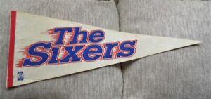 >orig. 1970's PHILADELPHIA 76ers *Vintage Basketball Pennant* JULIUS ERVING ERA!