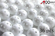 A99 Golf Ball 36pcs Air Flow Ball Practice Training Plastic Perforated White
