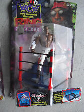 1999 Wcw Wrestling Booker T Ring Fighters Action Figure Nip