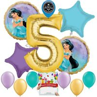 Disney Princess Jasmine Party Supplies Balloon Decoration Bundle 5th Birthday
