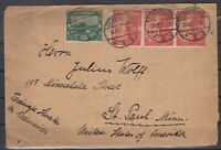 H3443/ SAAR – MI # 86 + 90 (STRIP OF 3) ON COVER