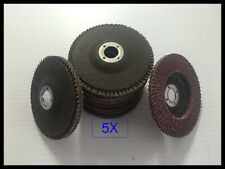"5x 4 "" 60 Grit Flap Sanding Grinding Discs 4"" 5/8"" Angle Grinder Wheels"