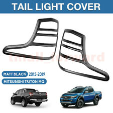 Matt Black Tail Light Cover Rear Lamp Covers for Mitsubishi Triton MQ 2015-2018