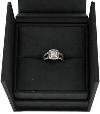 David Yurman Albion .29 tcw Pave Diamond Sterling Silver Ring Size 7.25 With Box