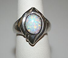 OPAL TRIPLET  Sterling Silver Ring 8x10 stone size 8 T3#177