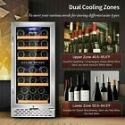 """32 Bottle 15"""" Dual Zone Wine Cooler Built-in or Freestanding Wine Refrigerator`Q photo"""
