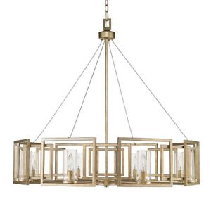 Golden Lighting 6068-8 Marco 8 Light 1 Tier Chandelier - Gold