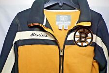 NHL Boston Bruins Old Time Hockey Causeway Collection Small Zip Up Sweatshirt