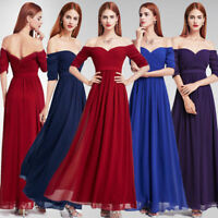 Ever-Pretty US Long Off-Shoulder Evening Dresses Formal Backless Prom Gown 07411