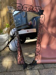 vintage retro 50's 60's metal surround atomic style mirror