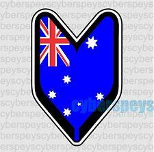 Australia Flag Wakaba Leaf Design Car Vinyl Decals/Stickers