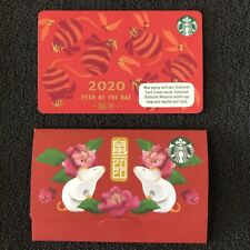 Starbucks Malaysia Card Rat Chinese New Year 2020 with Sleeve