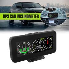 Automotive Car Digital GPS Inclinometer Compass Slope Meter Gauge Tilt Indicator