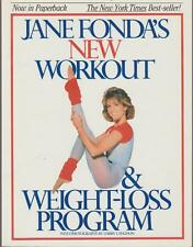 Jane Fonda New Workout & Weight Loss Program Illustrated Exercises 1986 Fitness