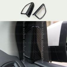 2X Carbon fiber color Door Speaker Audio Ring Cover For Ford Focus MK3 2012-2018