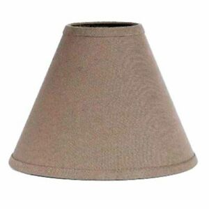 Lamp Shade 10 inch Mushroom Brown Cotton Fabric Neutral Country Ring Clip Style