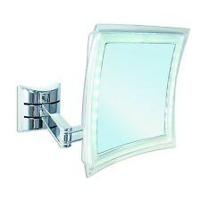 BRAVAT Enzo Rodi 411210 LED-Wandspiegel Palini / 16 x 16 cm / chrom 5 Fach
