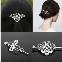 Retro Celtic Knots Clips Hairpin Charm Alloy Hair Stick Womens Hair Accessories