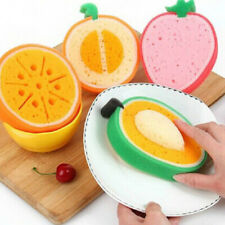 Fruit Shaped Scouring Gadget Sponge Scouring Pad Washing Dish Cloth Wipe Brush