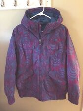 Womens BURTON Blue Purple Hooded DRYRIDE Ski Snowboard Mutiny Jacket Coat Sz L