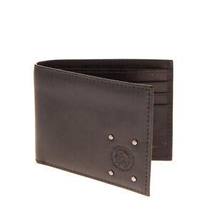 DIESEL 'CAMOU'N'DYED' NEELA XS Leather Bifold Wallet Studded Debossed Mohawk