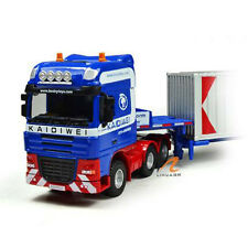 KDW 1/64 Scale Diecast Low Bed Transporter Truck Vehicle Car With 2 Containers