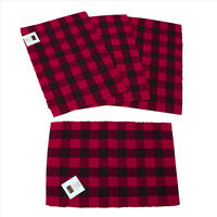Madison Buffalo Check Red & Black Place Mats Set 4 Aprox 13x18 inches