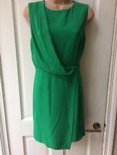 Women's Topshop Dress Size 10 Green Sleeveless Crossover