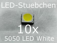 10x 5050 Kaltweiss SMD LED PLCC6 3-Chip Gurtabschnitt