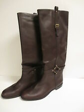 Coach Monday Knee High Boot 8 M Brown Leather  New w/out Box