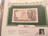 World Banknotes Spain 100 Pesetas 1970 P 152 UNC Prefix 7F