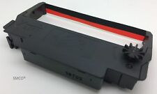 Cinta De Impresora SmCo para Epson ERC-38-B TMU220PB TMU230 Negro/Rojo/Rojo (PK 5)
