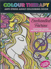 Adult Anti Stress Colouring Colour Therapy Enchanted Fairies 64 Page A4 Book