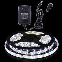 5M 300LEDs 3528 SMD Cool White LED Flexible Tape Strip Light 12V Power Full KIT