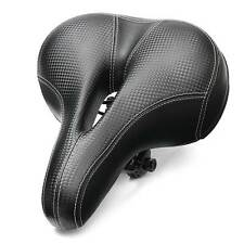 Bike Bicycle Wide Big Bum Soft Extra Comfort Sprung Deluxe Gel Saddle Seat UK