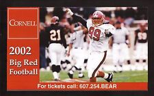 Cornell Big Red--2002 Football Ticket Brochure/Schedule