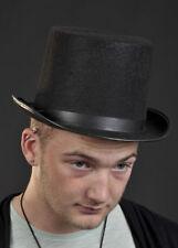 Victorian Black Felt Top Hat